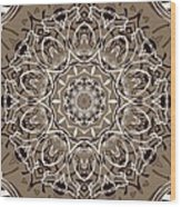 Coffee Flowers 7 Ornate Medallion Wood Print