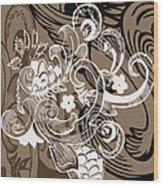 Coffee Flowers 8  Wood Print