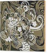 Coffee Flowers 8 Olive Wood Print