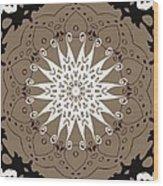Coffee Flowers 9 Ornate Medallion Wood Print