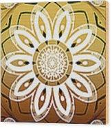 Coffee Flowers Calypso Triptych 2 Horizontal   Wood Print