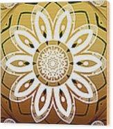 Coffee Flowers Medallion Calypso Triptych 2  Wood Print