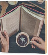Coffee For Dreamers Wood Print