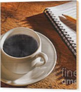 Coffee For The Writer Wood Print