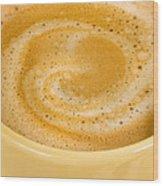 Coffee In Yellow Wood Print
