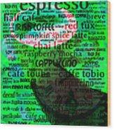 Coffee Lovers Diary 5d24472p108 Wood Print