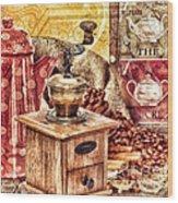 Coffee Mill Wood Print