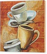 Coffee Over Shannara Wood Print