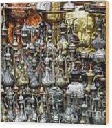 Coffee Pots At The Grand Bazaar In Istanbul Turkey Wood Print