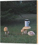 Coffee-rooms Wood Print by Donnie Freeman