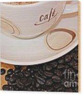 Coffee Rush Wood Print