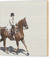 Coffee Saddlebred Wood Print