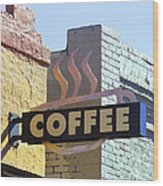Coffee Shop Wood Print