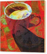 Coffee Time My Time 5d24472m12 Wood Print