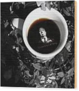 Coffee With Alfred Wood Print