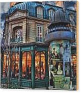 Coffeehouse - Belle Soiree Au Cafe II Wood Print