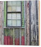 Coforful Old House Wood Print