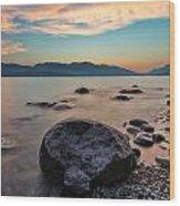 Cogburn Beach Rocks Wood Print