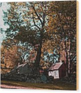 Coggeshall Farm Bristol Ri Wood Print