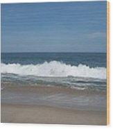 Coin Beach Md Ocean Wave Wood Print