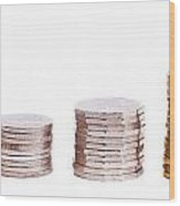 Coin Stack Wood Print