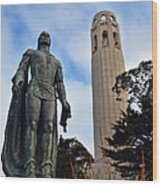 Coit Tower -2 Wood Print