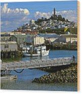 Coit Tower And Marina - San Francisco Wood Print