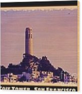 Coit Tower Poster Wood Print