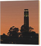 Coit Tower Sunset Wood Print