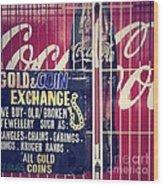 Coke And Gold Wood Print