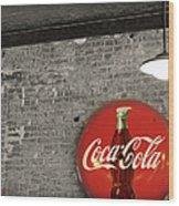 Coke Cola Sign Wood Print