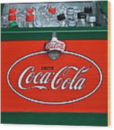 Coke Cooler Wood Print