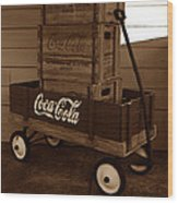 Coke Wagon Wood Print
