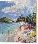 Coki Beach Wood Print