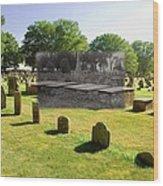 Col. Benjamin Church And Elisabeth Pabodie Gravesites In Little Compton Ri Wood Print