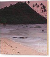 Cola Beach Sunset Wood Print