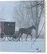 Cold Amish Morning Wood Print