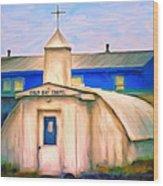 Cold Bay Chapel Wood Print