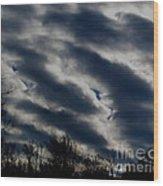 Cold Cloudscape Wood Print
