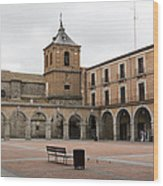 Cold Courtyard Avila Wood Print