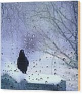 Cold Crow Wood Print