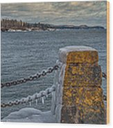 Cold Day On Superior Wood Print