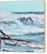 Cold Feet - Stormy Seas - Outer Banks Wood Print