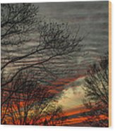 Cold Front Sunset Wood Print