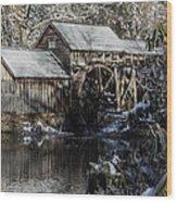 Winter Mill Wood Print
