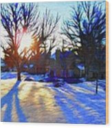 Cold Morning Sun Wood Print by Jeff Kolker