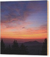 Cold Mountain At Sunrise Wood Print