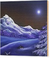 Cold Night Wood Print