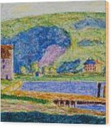 Cold Spring Harbor Wood Print