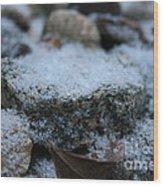 Cold Stone Wood Print